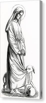 St Margaret Drawings Canvas Prints