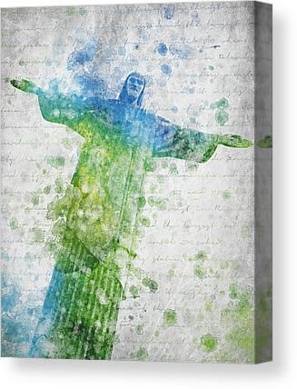 Jesus Christ Icon Digital Art Canvas Prints