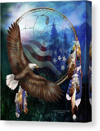 Flying The Flag Canvas Prints