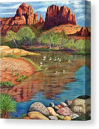 Oak Creek Drawings Canvas Prints