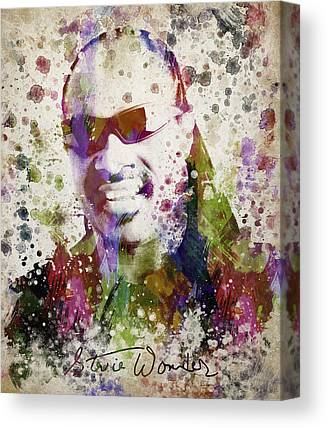 Drawing Of Soul Singer Canvas Prints
