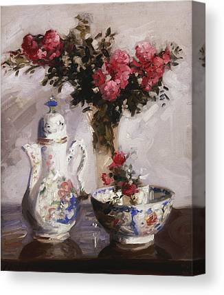 Indoor Still Life Paintings Canvas Prints