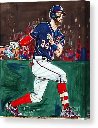 Washington Nationals Drawings Canvas Prints