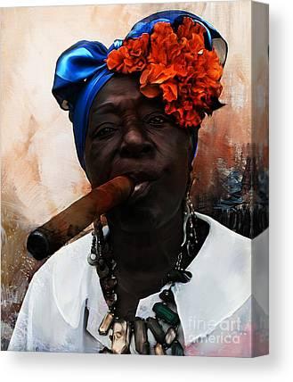 Angels Smoking Paintings Canvas Prints