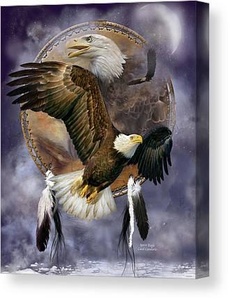 Eagle Mixed Media Canvas Prints