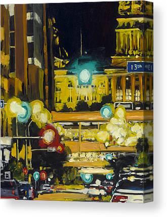 East Village Paintings Canvas Prints