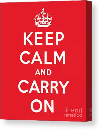 Keep Calm And Carry On Canvas Prints