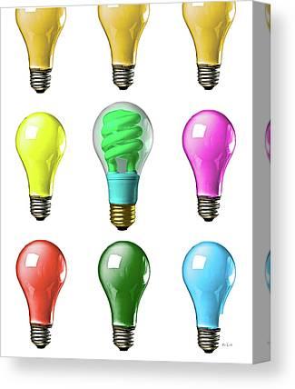 Electric Light Canvas Prints