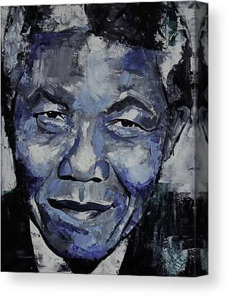 Nelson Mandela Canvas Prints