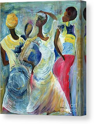 African Black Women Paintings Canvas Prints