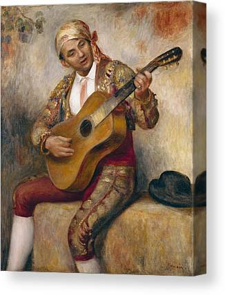 Man Playing Guitar Paintings Canvas Prints