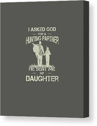 Father And Daughter Digital Art Canvas Prints