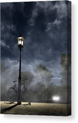 Streetlight Digital Art Canvas Prints