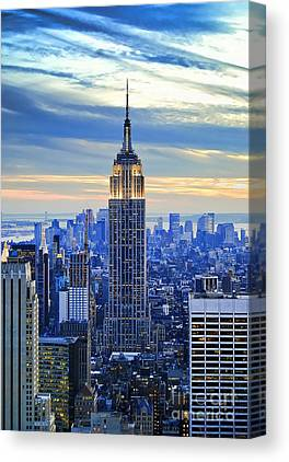 City Sunset Canvas Prints