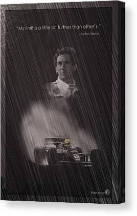 Ayrton Senna Canvas Prints