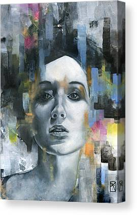 Pastel Portrait Canvas Prints