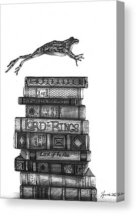 Amphibians Drawings Canvas Prints
