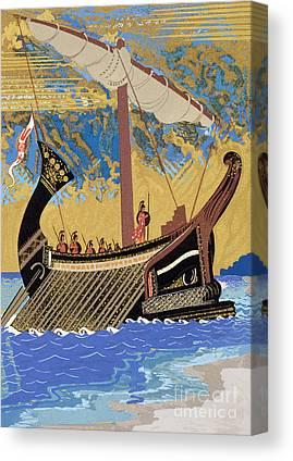 Sailboats Drawings Canvas Prints