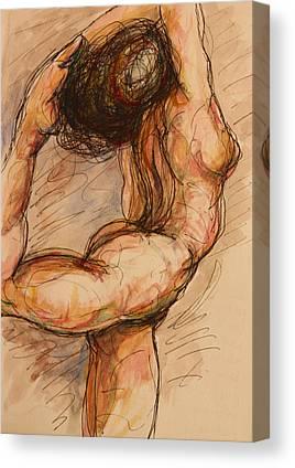Nudes Mixed Media Canvas Prints