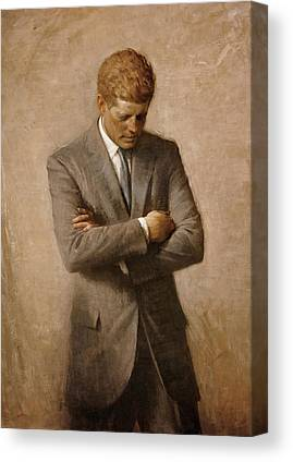 John F. Kennedy Canvas Prints