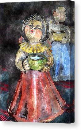 Porridge Digital Art Canvas Prints