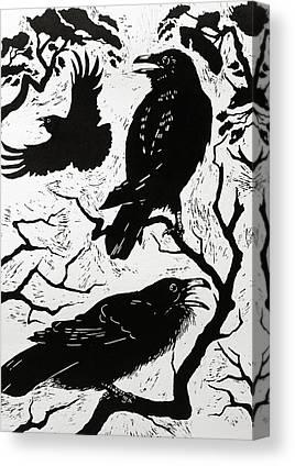 Raven Canvas Prints