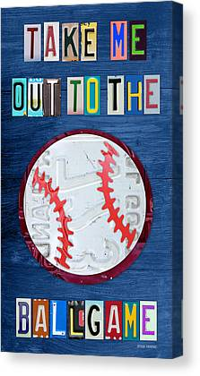 Ballgame Mixed Media Canvas Prints
