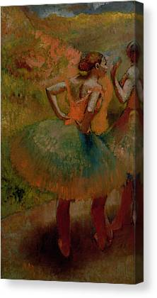 Dancers Wearing Green Skirts Canvas Prints