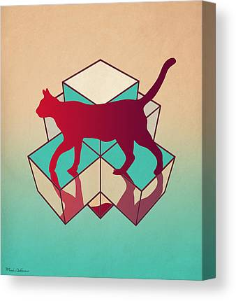 Geometric Digital Art Canvas Prints