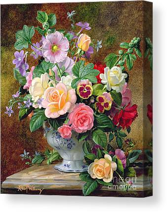 Flowers In A Vase Canvas Prints