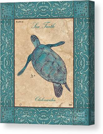 Green Sea Turtle Paintings Canvas Prints