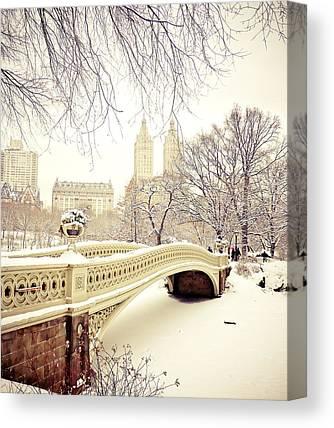 New York Snow Photographs Canvas Prints