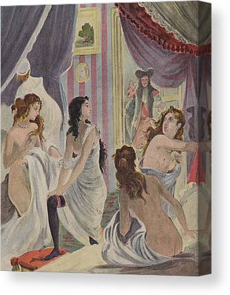 Demoiselles Drawings Canvas Prints