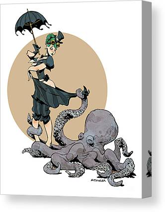 Octopuses Canvas Prints