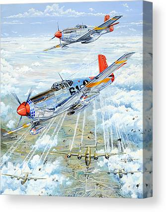 Fighters Drawings Canvas Prints