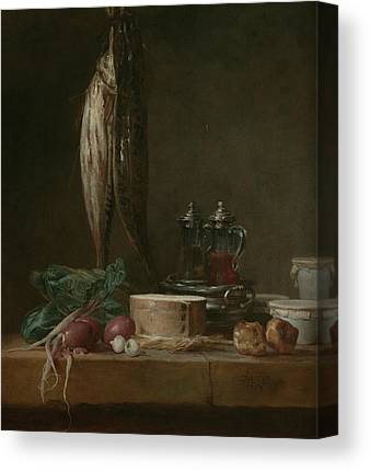 Still Life With Fish Paintings Canvas Prints