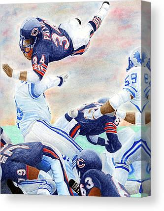 Football Canvas Prints