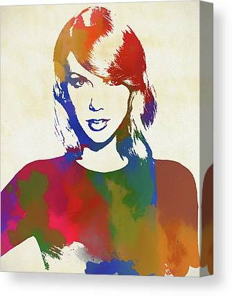 Taylor Swift Paintings Canvas Prints