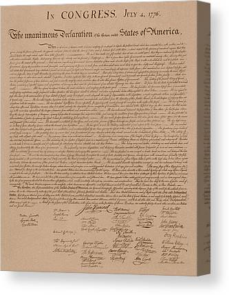 Founding Fathers Mixed Media Canvas Prints