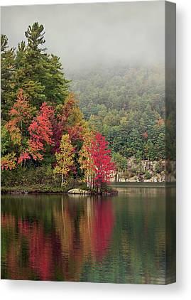 Autumn Pond Canvas Prints