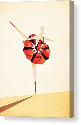 Ballerinas Digital Art Canvas Prints