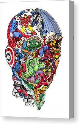 Comic. Marvel Canvas Prints