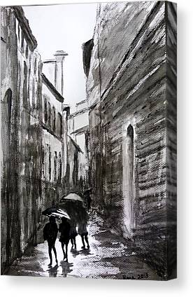 Sienna Italy Drawings Canvas Prints