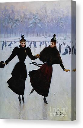 Black Ice Canvas Prints
