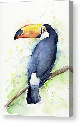 Tropical Bird Canvas Prints