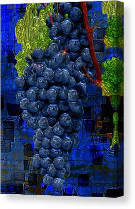 Wine Making Digital Art Canvas Prints