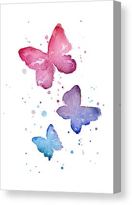 Blue Butterfly Canvas Prints
