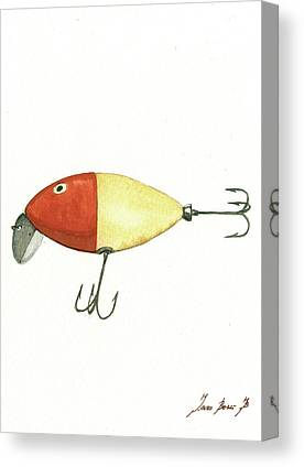 Antique Fishing Lures Canvas Prints