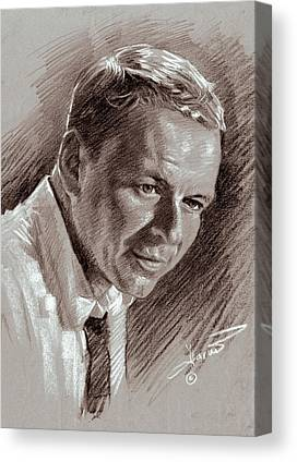 Frank Sinatra Drawings Canvas Prints