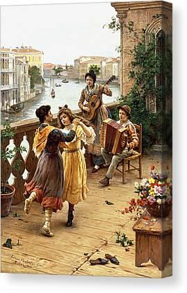 Venetian Balcony Canvas Prints